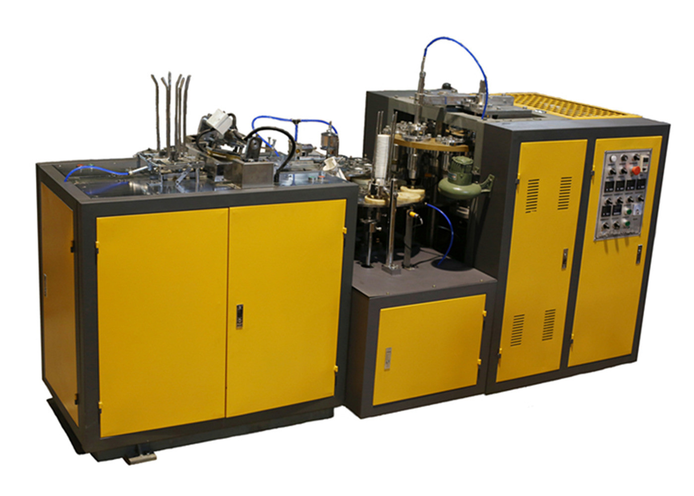 Disposable Ice Cream / Tea Paper Cup Making Machine With Oil Adding System
