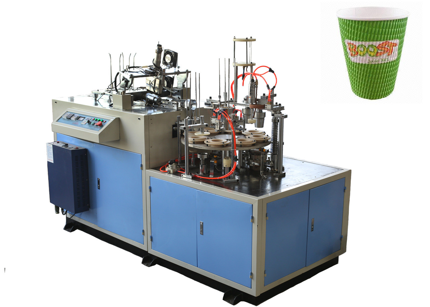 Hollow / Corrugated Double Wall Paper Cup Sleeve Forming Machine 24 Hours Stable Running
