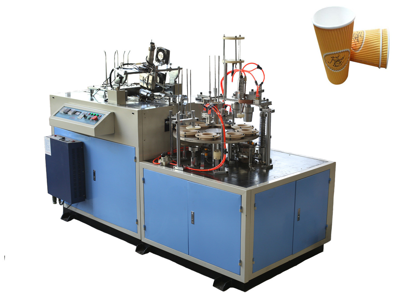 High Power Ultrasonic Paper Cup Sleeve Machine , Paper Cup Jacketing Machine